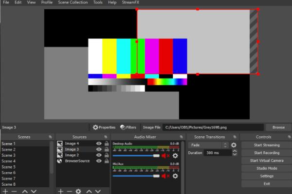 OBS-Startbildschirm